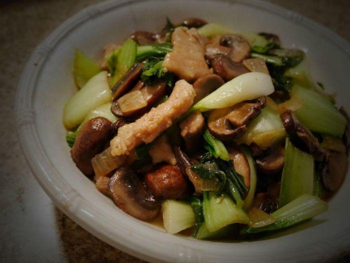 青菜蘑菇炒肉片的做法图解,如何做,青菜蘑菇炒肉片怎么做好吃详细步骤