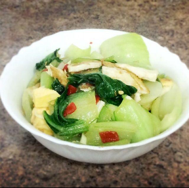 剁椒荷包蛋青菜的做法图解,如何做,快手菜-剁椒荷包蛋青菜怎么做好吃详细步骤
