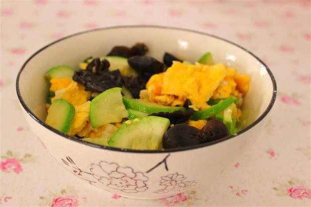 角瓜木耳炒蛋的做法图解,如何做,角瓜木耳炒蛋怎么做好吃详细步骤