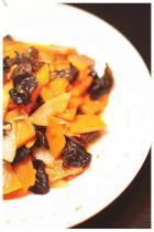 南瓜小炒木耳菜的做法图解,如何做,快手菜 南瓜小炒木耳菜怎么做好吃详细步骤