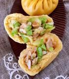 西胡虾米猪油渣包子的做法