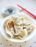 香菇茄子猪肉水饺的做法