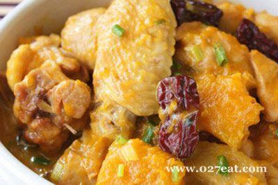 南瓜炖鸡的做法图片,如何做,南瓜炖鸡怎么做好吃详细步骤