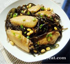 海带黄豆焖鸡翅的做法图片,如何做,海带黄豆焖鸡翅怎么做好吃详细步骤