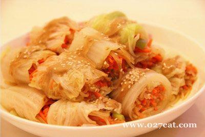 麻汁菜丝卷的做法