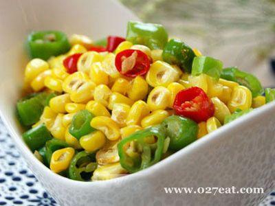 青椒炒玉米的做法步骤