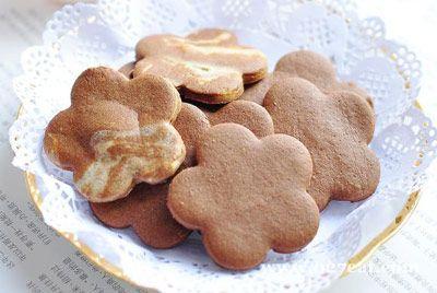可可花纹饼干的做法图片,如何做,可可花纹饼干怎么做好吃详细步骤