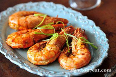 盐煎对虾的做法图片,如何做,盐煎对虾怎么做好吃详细步骤