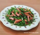 韭苔香肠的做法