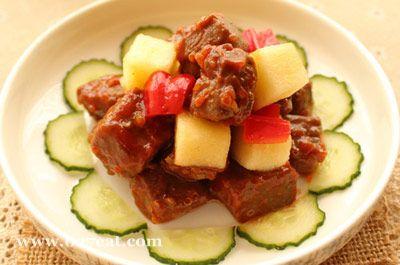 苹果煎牛肉的做法图片,如何做,苹果煎牛肉怎么做好吃详细步骤