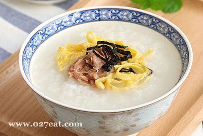 金枪鱼紫菜蛋丝粥的做法图片,如何做,金枪鱼紫菜蛋丝粥怎么做好吃详细步骤