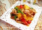 菠萝香炒猪颈肉的做法
