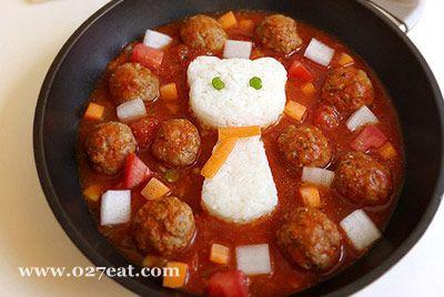 肉丸子烩饭的做法图片,如何做,肉丸子烩饭怎么做好吃详细步骤