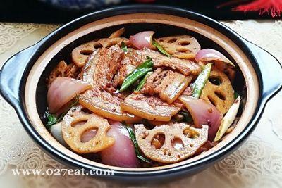 干锅莲藕回锅肉的做法