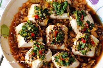 果仁蒸拌豆腐的做法