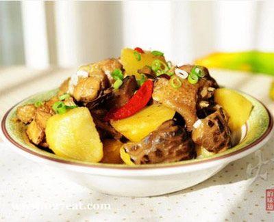 土豆花菇炖鸡块的做法图片,如何做,土豆花菇炖鸡块怎么做好吃详细步骤