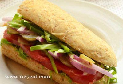 全麦蔬菜三明治的做法