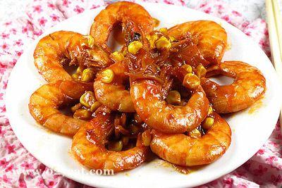 甜玉米烧大虾的做法图片,如何做,甜玉米烧大虾怎么做好吃详细步骤