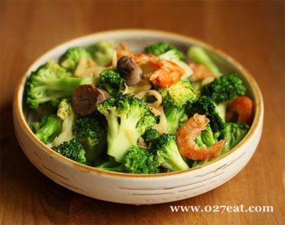 西兰花炒虾干的做法图片,如何做,西兰花炒虾干怎么做好吃详细步骤