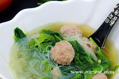 菠菜粉丝肉丸汤的做法图片,如何做,菠菜粉丝肉丸汤怎么做好吃详细步骤