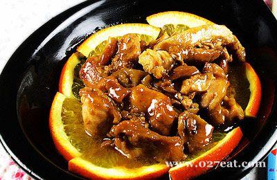 香橙鸡腿肉的做法