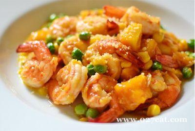芒果酱炒虾的做法图片,如何做,芒果酱炒虾怎么做好吃详细步骤