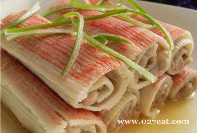 蟹肉卷的做法
