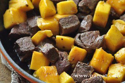 芒果牛肉粒的做法图片,如何做,芒果牛肉粒怎么做好吃详细步骤