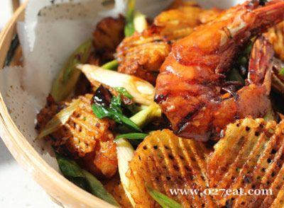 干锅土豆香辣虾的做法图片,如何做,干锅土豆香辣虾怎么做好吃详细步骤