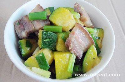 腊肉烧小南瓜的做法图片,如何做,腊肉烧小南瓜怎么做好吃详细步骤