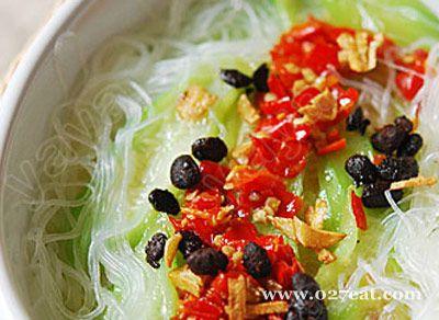 豉香剁椒粉丝蒸丝瓜的做法图片,如何做,豉香剁椒粉丝蒸丝瓜怎么做好吃详细步骤
