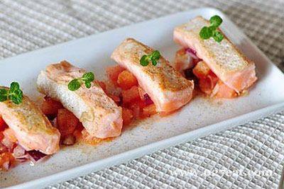 柠香三文鱼沙拉的做法图片,如何做,柠香三文鱼沙拉怎么做好吃详细步骤
