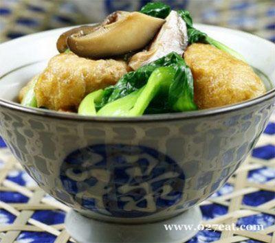 香菇烧油豆腐的做法图片,如何做,香菇烧油豆腐怎么做好吃详细步骤