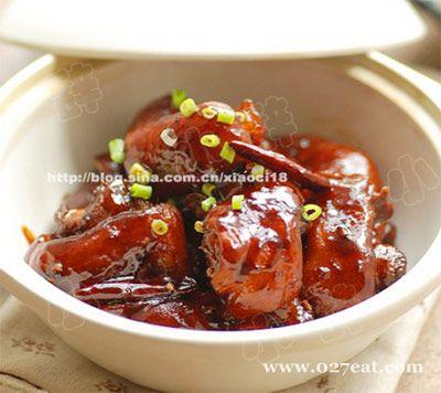 香辣红焖猪手的做法