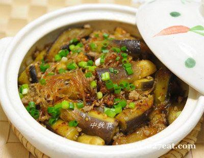 肉末茄子粉丝煲的做法图片,如何做,肉末茄子粉丝煲怎么做好吃详细步骤