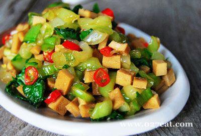 青菜拌豆干的做法图片,如何做,青菜拌豆干怎么做好吃详细步骤
