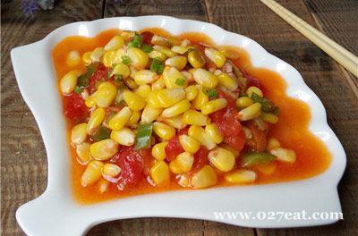 番茄玉米丁的做法图片,如何做,番茄玉米丁怎么做好吃详细步骤