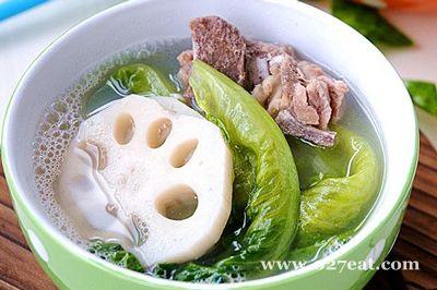 莲藕青菜骨头汤的做法图片,如何做,莲藕青菜骨头汤怎么做好吃详细步骤