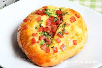 火腿葱香面包的做法