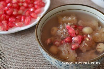 石榴银耳汤的做法图片,如何做,石榴银耳汤怎么做好吃详细步骤