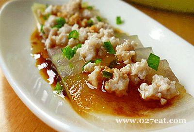 肉末水晶冬瓜片的做法