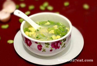 蚕豆粉丝蛋汤的做法