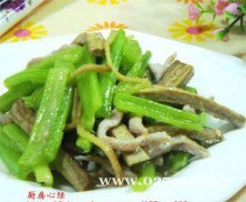 肉丝炒芹菜的做法图片,如何做,肉丝炒芹菜怎么做好吃详细步骤