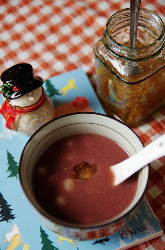 桂花红豆圆子汤的做法