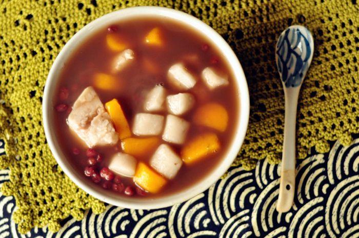 红豆芋圆甜汤的做法