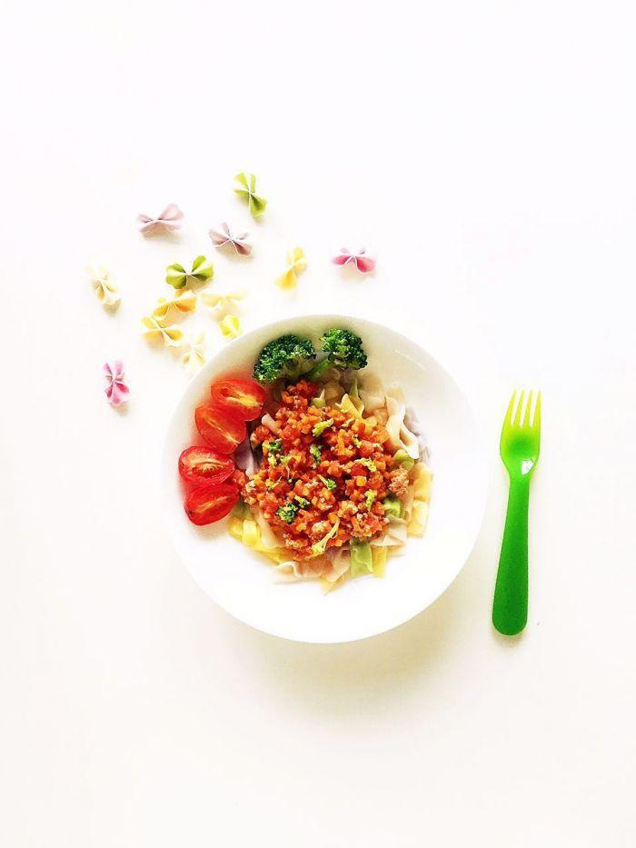 番茄蔬菜肉酱蝴蝶面的做法第17步图片步骤 www.027eat.com