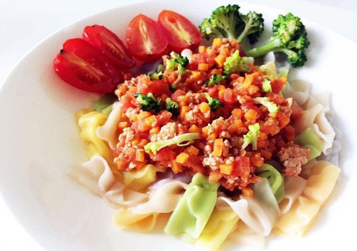 番茄蔬菜肉酱蝴蝶面的做法第18步图片步骤 www.027eat.com