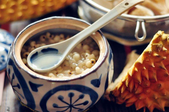 海底椰榴莲薏米汤的做法第5步图片步骤 www.027eat.com