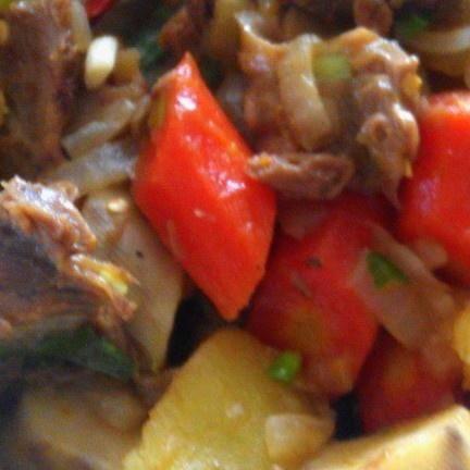 牛腩肉煮土豆的做法第1步图片步骤 www.027eat.com