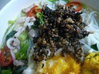 荷包蛋肉丝米线的做法第7步图片步骤 www.027eat.com